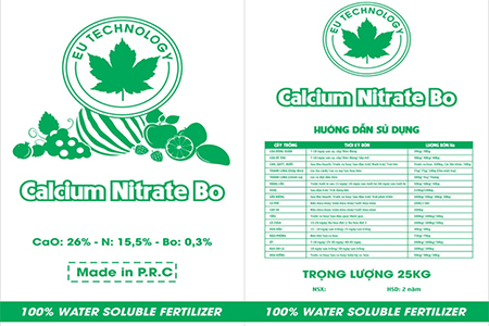 Bán Calcium Nitrate Bo (CaO: 26%; N: 15,5%; Bo: 0,3%)