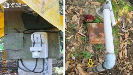 Hệ thống điện và máy bơm đặt âm trong lòng đất