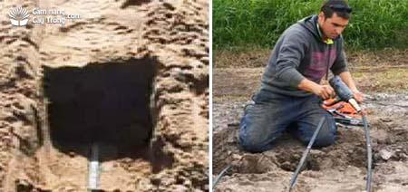 Ống nước được nối ngầm dưới đất và Nối các ống dẫn nước phụ