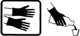 Ký hiệu đeo gang tay khi sử dụng thuốc