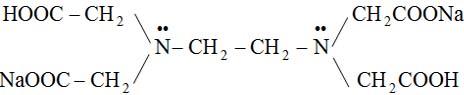 Dinatri etylen diamino tetra axit: Na2H2Y