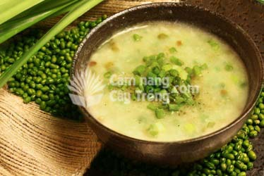 Cháo đậu xanh - món ăn bổ dưỡng