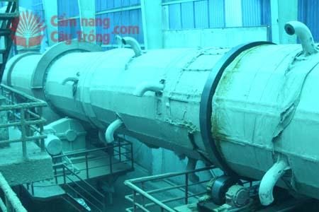 Máy sấy trong hệ thống dây chuyền sản xuất phân bón công nghệ hơi nước
